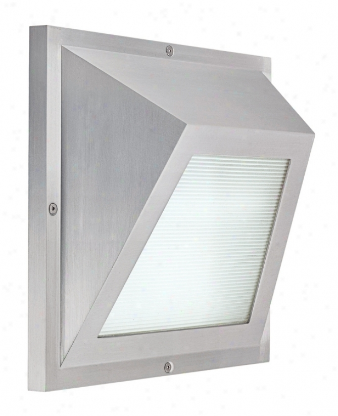 "Edge Led Satin Aluminum 6"" High Ada Outdoor Wall Light (h366)"