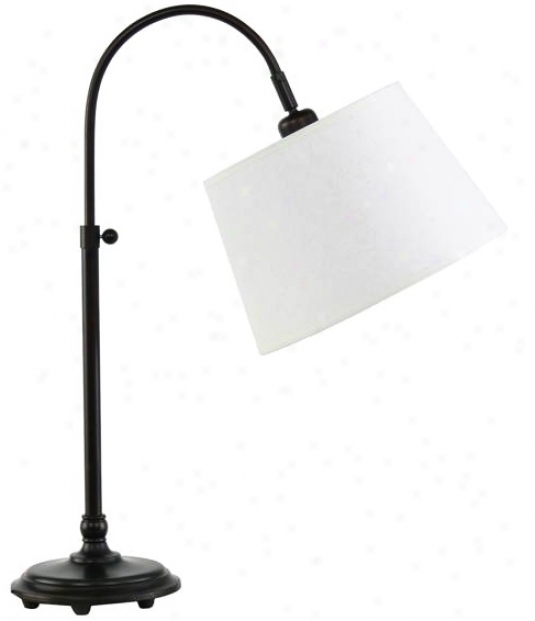 Edward Adjustable Oil-rubbed Bronze Desk Lamp (v7023)