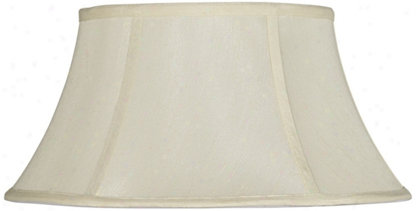 Eggshell Modified Drum Lamp Shade 11x18x9.75 (spider) (v9735)