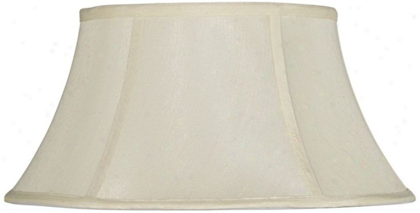 Eggshell Modified Drum Lamp Shade 9x14x8.25 (spider) (v9597)