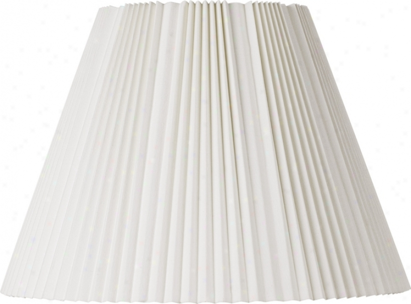 Eggshell Pleated Lamp Shade 9x17x12.25 (spider) (42260)