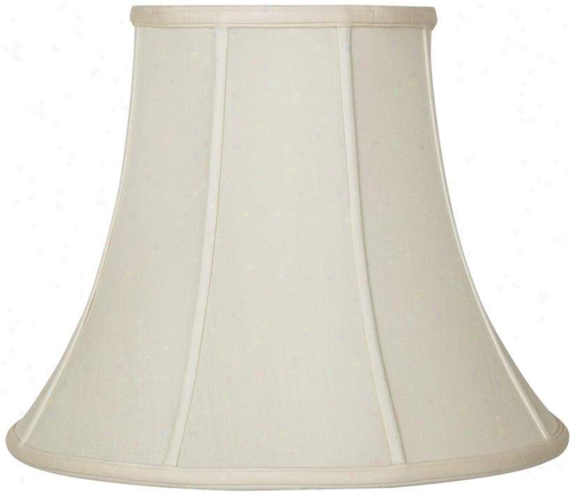 Eggshell Silk Bell Lamp Shade 10x20x15 (spider) (u1788)