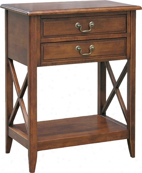 Eiffel Birch Wood Night Stand (h2339)