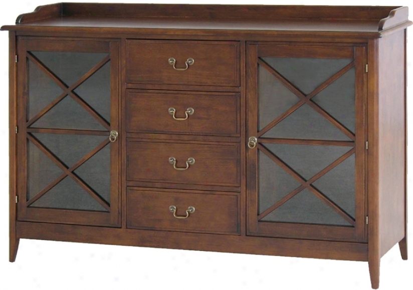 Eiffel Walnut Stained Traditional Accent Sideboar d(h2221)