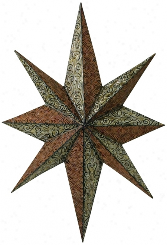 Eight Point Star Wall Decor (n7218)