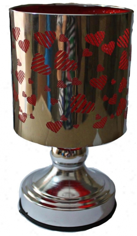 Electric Heart Candle Holder And Accent Night (u7910)