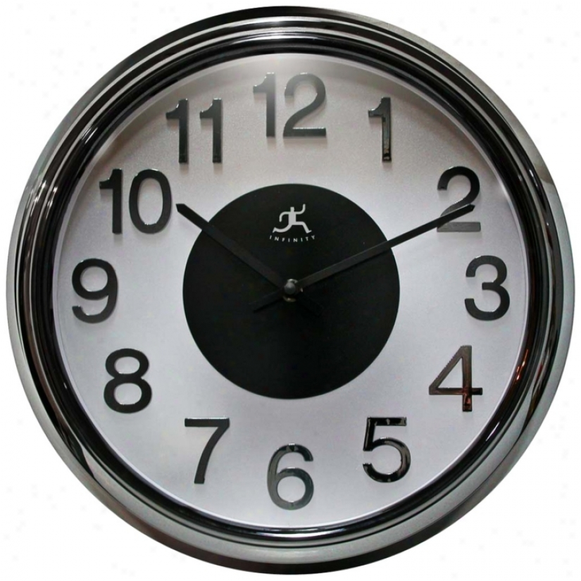 "Electric Kool 15"" Wide Round Wall Clock (r6835)"