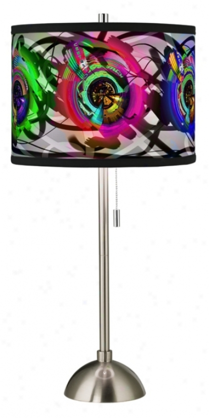 Neon Table Light: Electric Neon Giclee Style Art Shade Table Lamp (60757