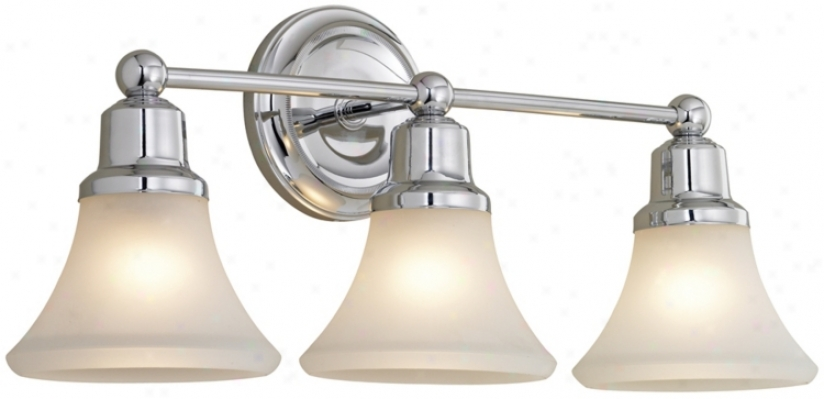 Elizabeth Polished Nickel Three Light Bath Fixture (87703)