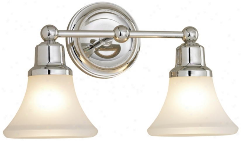 Elizabth Polished Nickel Pair Light Bath Fixture (87644)