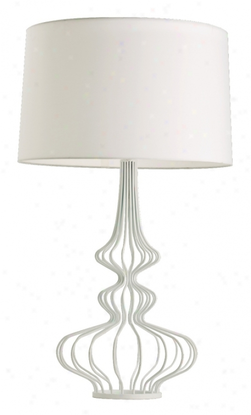 Eloise White Wire Table Lamp (m6091)