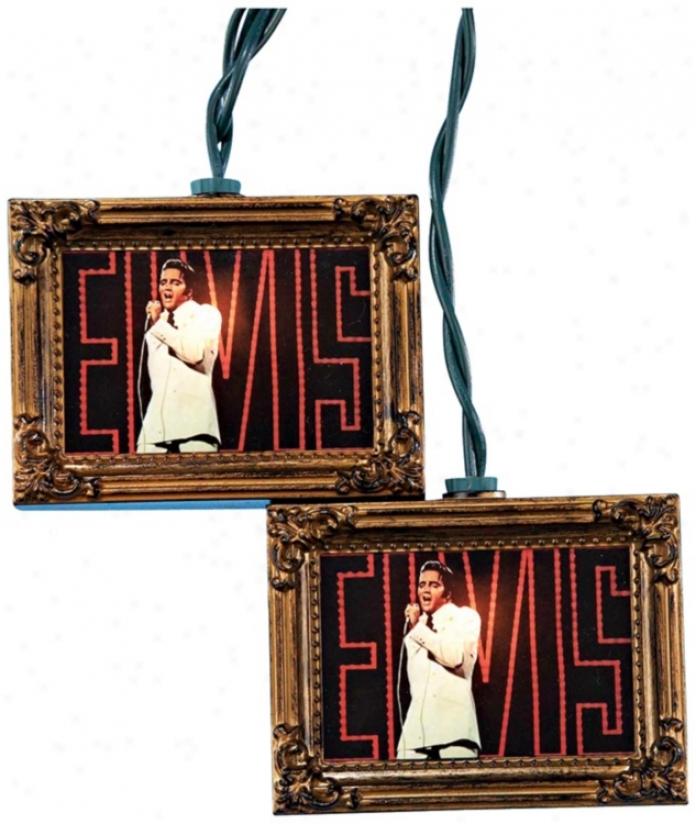 Elvis Gold iPcture Frame 10-light String Of Party Lights (n6344)