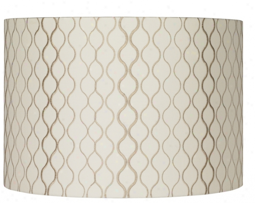 Embroidered Hourglass Lamp Shade 16x16x11 (spider) (k4307)