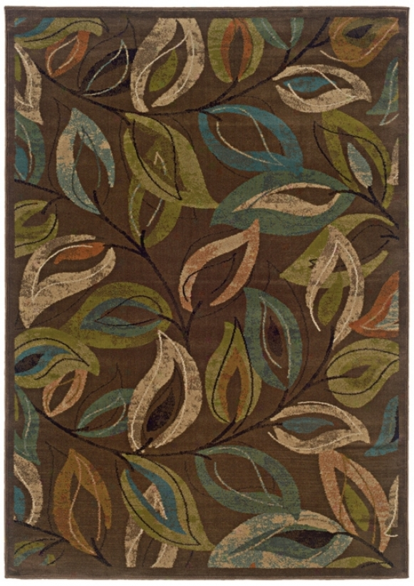 "Emerson Collection Leaves 1'10""x7'6"" Runner u(7333)"