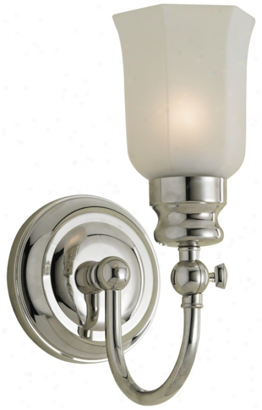 "Emily 11 1/2"" High Chrome Bath Sconce (87721)"