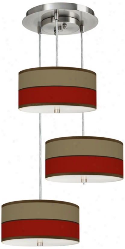 Empire Red 3-in-1 Drum Shade Giclee Pendant (m2298-u4685)