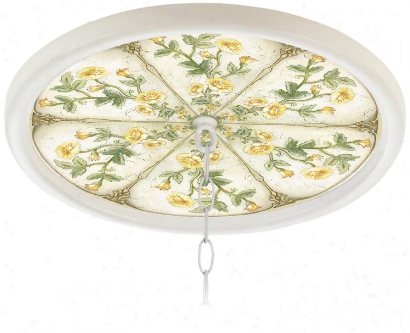 "Engllsh Garden Butter 16"" Wide 1"" Opening Medallion (g8213-h3671)"