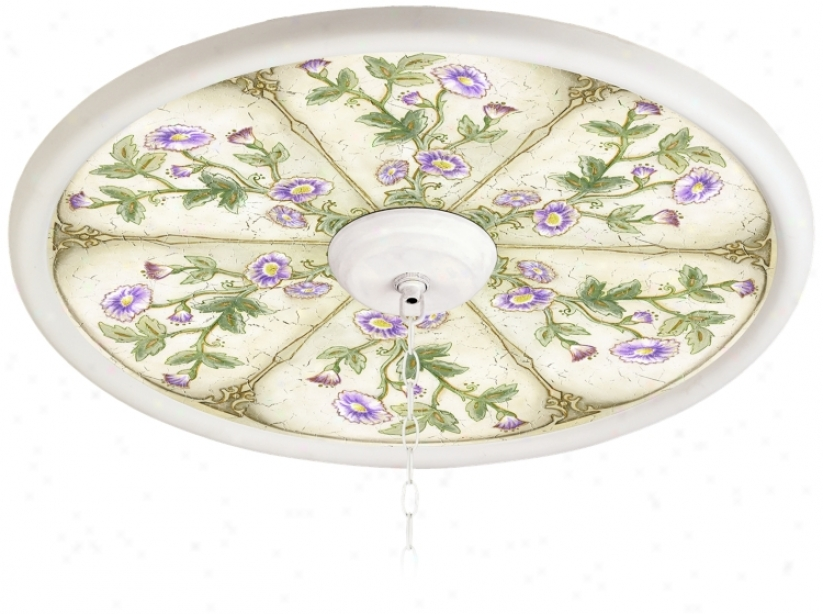 "English Garden Lavender 24"" White 4"" Opening Medallion (943330-h3656)"