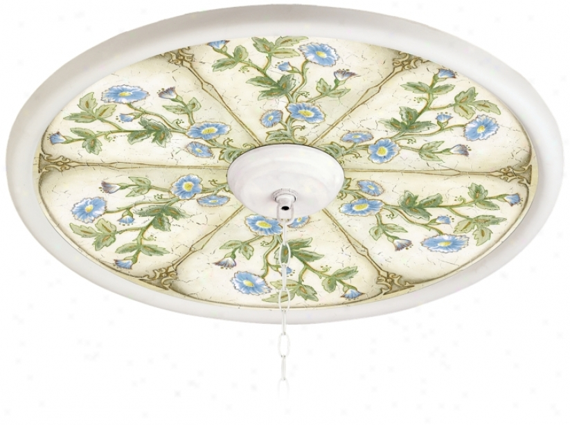"English Garden Sky 24"" Wide White 4"" Opening Medallion (94330-h3675)"