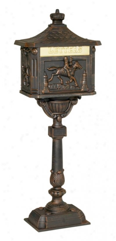 Equestrian Ridr Decorative Curbside Epistle Mailbox (89437)