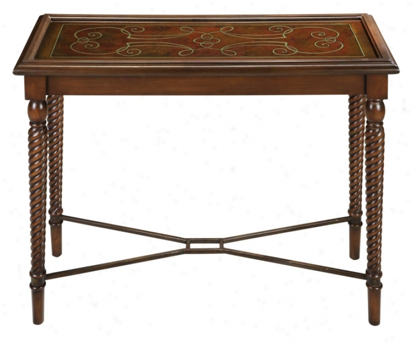 Espaniola Reverse Painted Glass Hall Table (t2276)