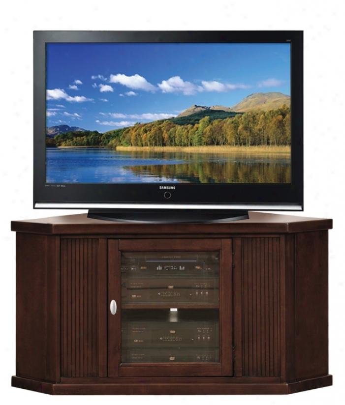 """Espresso Wood 46"""" Wide Corner Television Console (m9350)"""