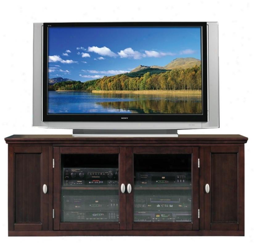 """Espresso Wood 62"""" Wide Television Console (m9349)"""