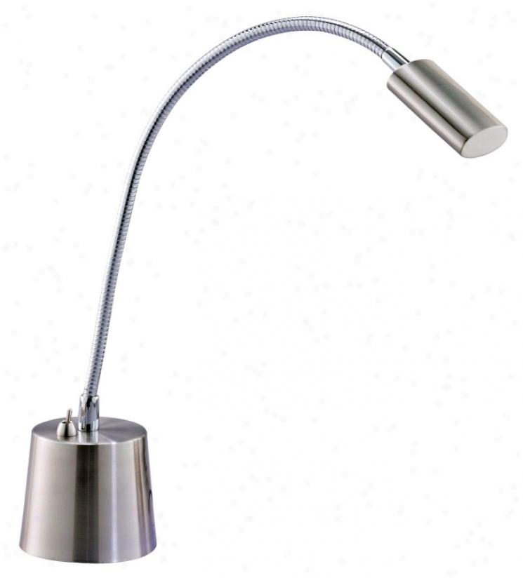 Eternity Satin Steel Led Gooseneck Desk Lamp (60557)