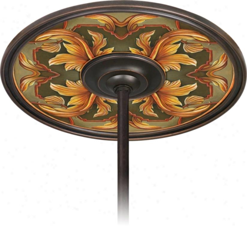 "Etruscan Sunset 6 1/2"" Opening Bronze Ceiling Fan Medallion (h3293-h3562)"