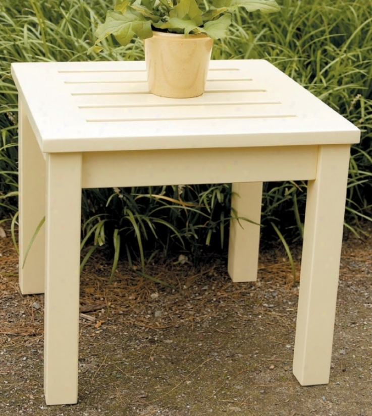 Eucalyptus Antique Ivory Outdoor Side Table (m7935)