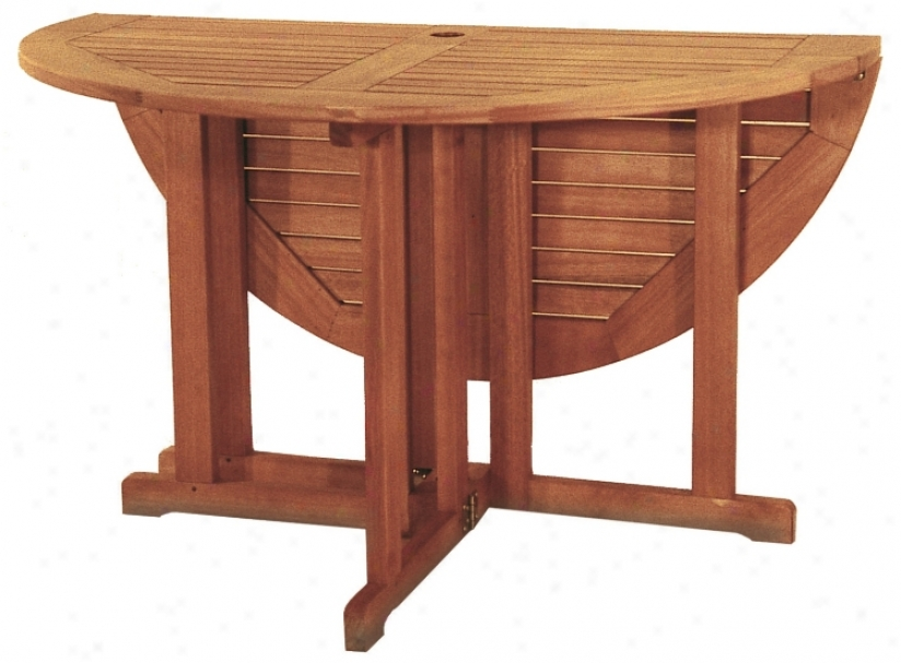 Eucalyptus Outdoor Folding Table (m7933)