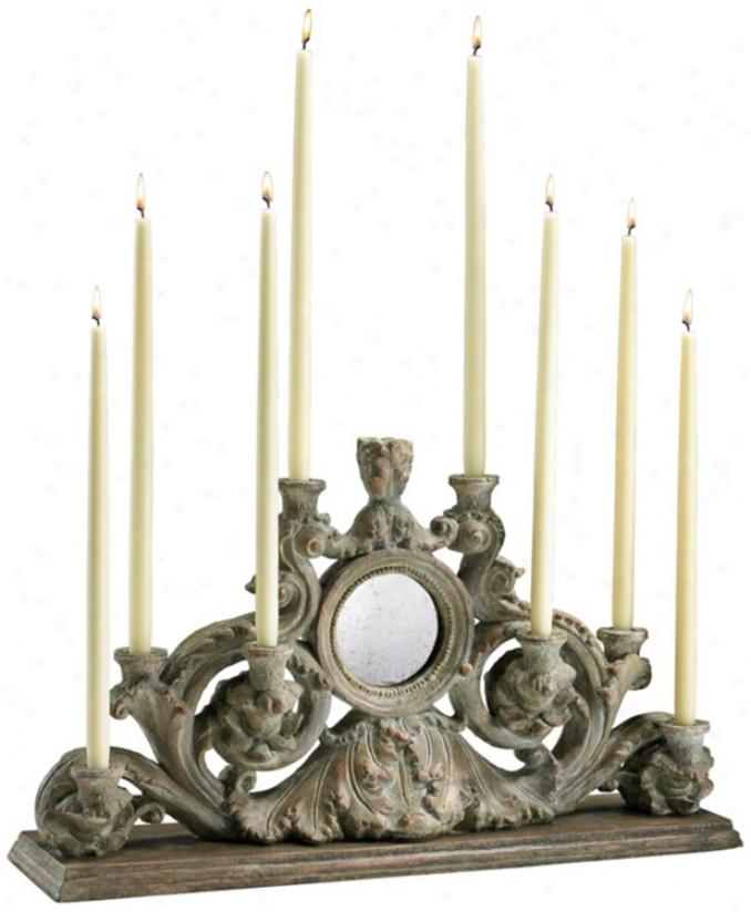 European Washed Ash Taper Candle Holder (v0599)