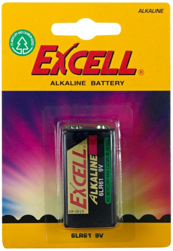 Excell 9-volt Alkaline Battery (p2439)