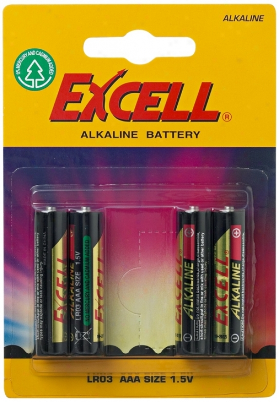Excell Aaa 4-pack Alkaline Batteries (p2441)