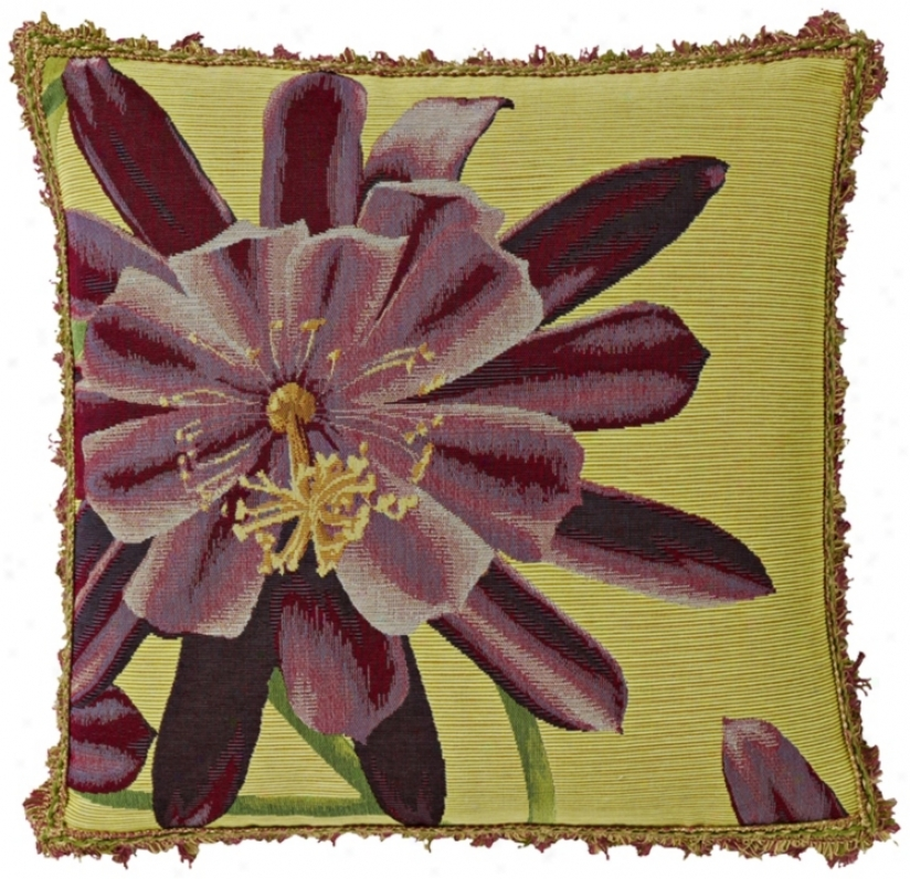 "Exotic Blossom Lemon 19"" Square Pillow (g2896)"