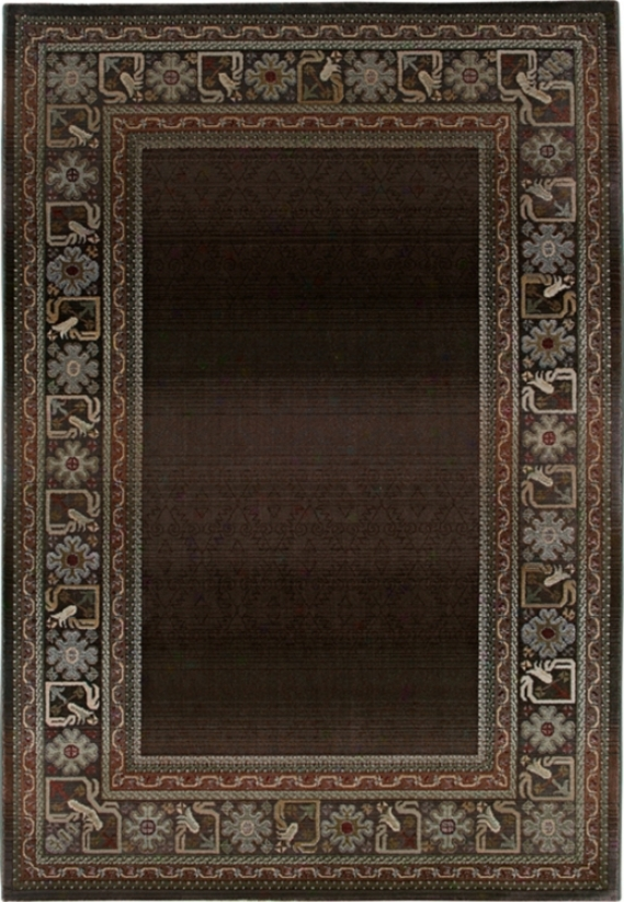 "Fall BorderB rown 2' 3""x7' 6"" Runner (41169)"