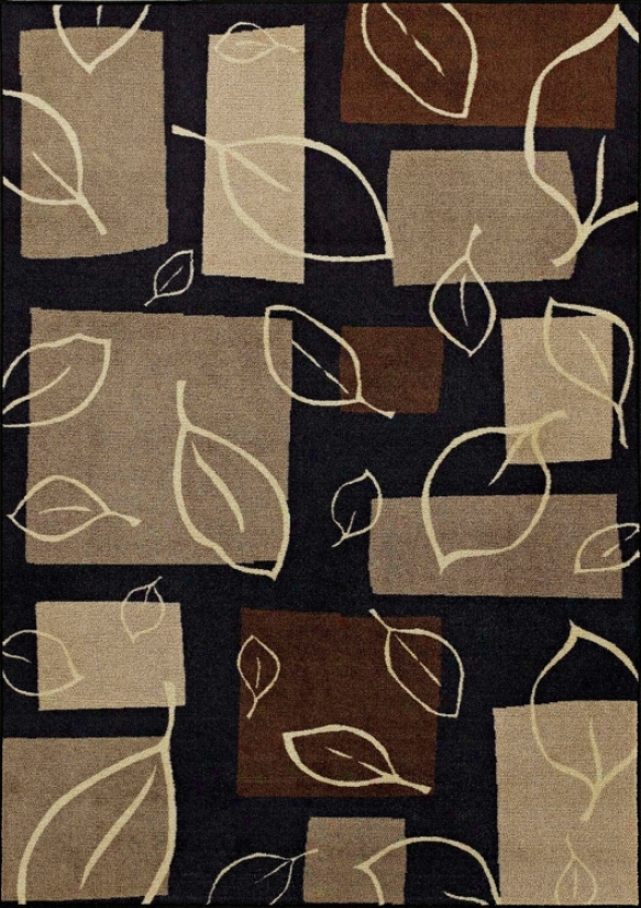 "Fall Impression Black 8' 2""x10' Area Rug (j4667)"