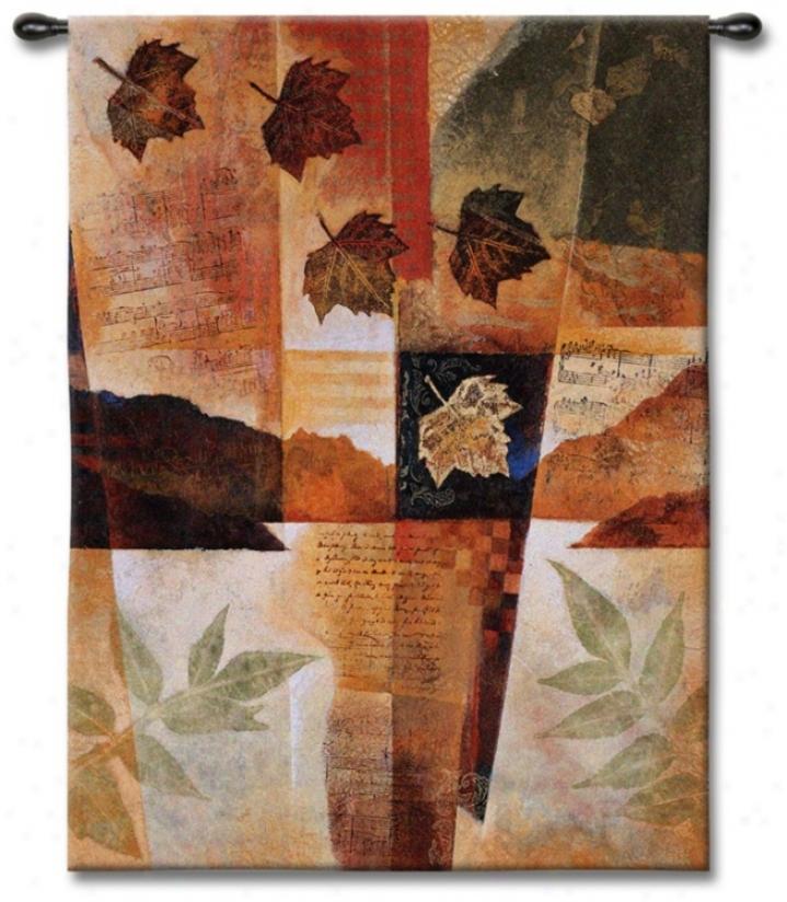 "Fall Medley 53"" High Wall Tapestry (j8958)"