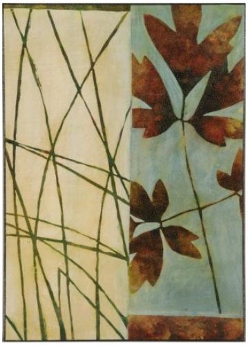"Falling Leaves Print 26 1/2"" High Wall Art (j4135)"