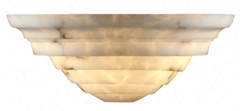 Faux Alabaster Supreme Wall Sconce (02272)