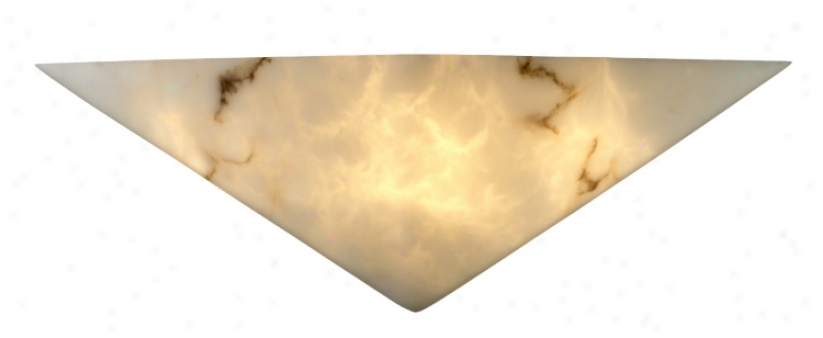 Faux Alabaster Triangle Wall Top (00621)