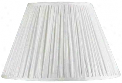 Faux Silk Mushroom Pleated Shade 9x17x11 (spider) (17798)