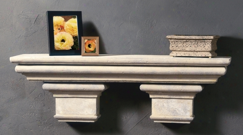 Faux Stone Finsh Roman Shelf With Brackets (m0256)