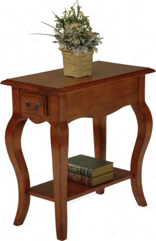 Favorite Finds Brown Cherry Finish Side Table (k3058)