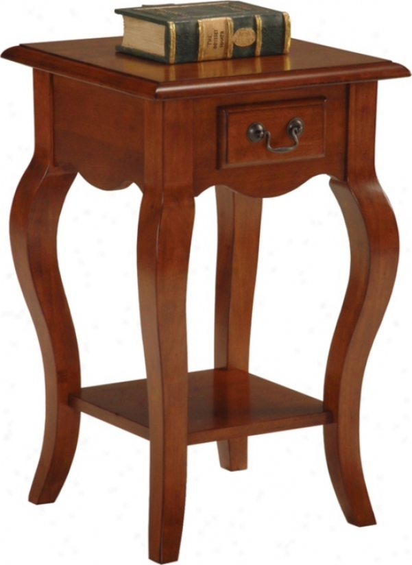 Favorite Finds Brown Cherry End Square Sdi Table (k3083)