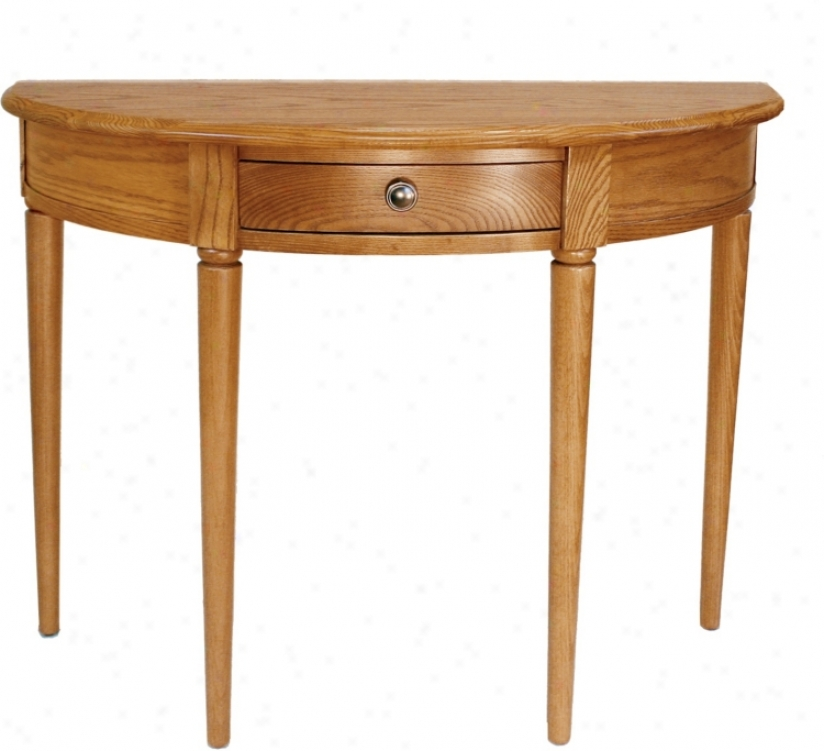 Favorite Finds Chestnut Satin Finish Demilune Console Table (k3109)