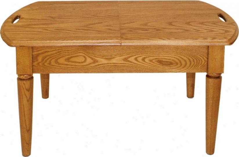 Favorite Finds Chestnut Satin Slide Top Coffee Table (k3113)