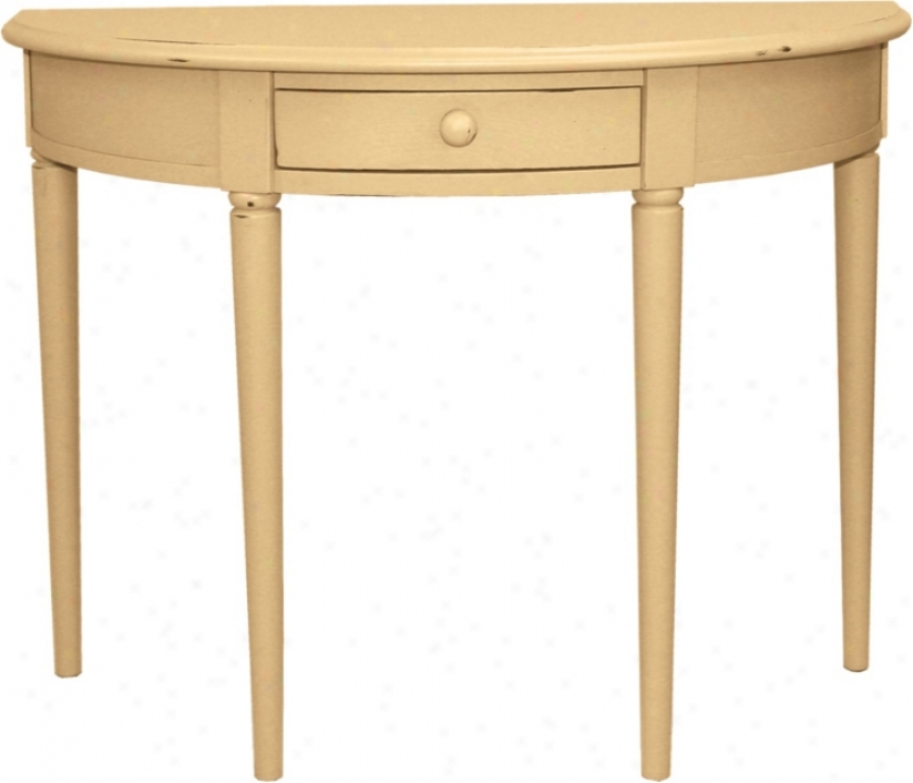 Favorite Finds Maize Finish Demilune Cohsole Table (k3110)
