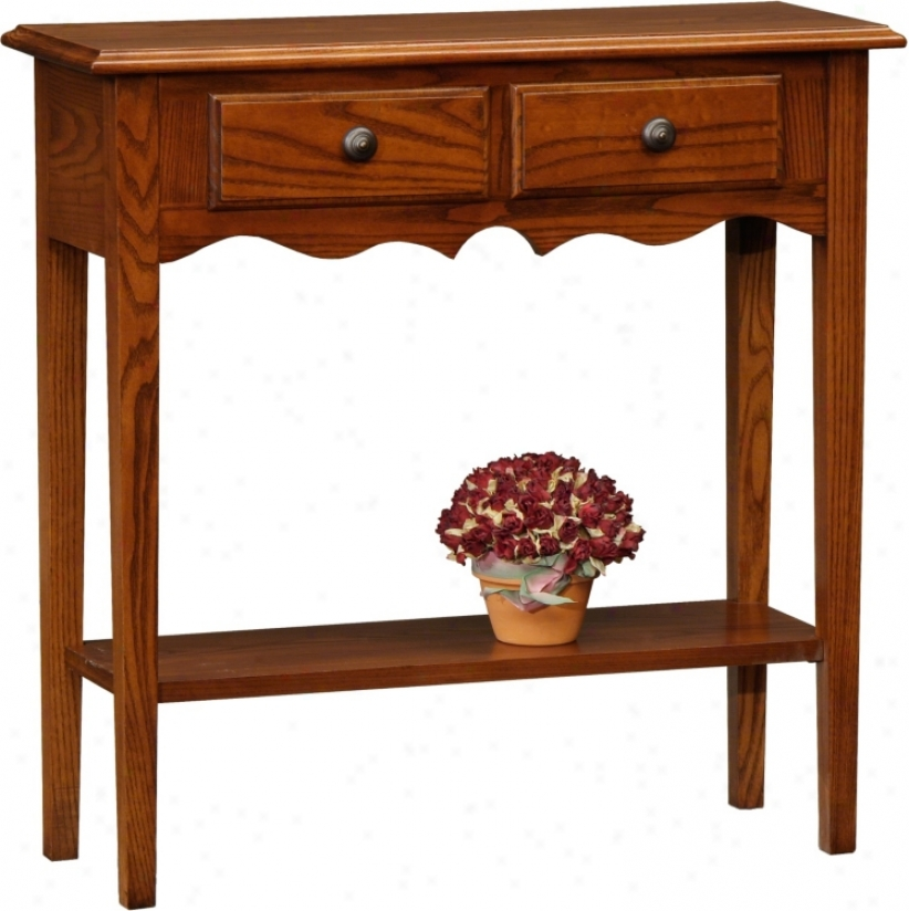 Favorite Finds Medium Oak Finish Petite Console Table (k3079)