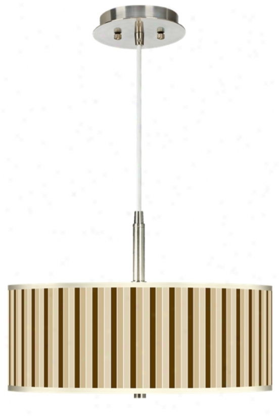 """Fawn Stripes 16"""" Wide Giclee Pendant Light (g9447-h8890)"""